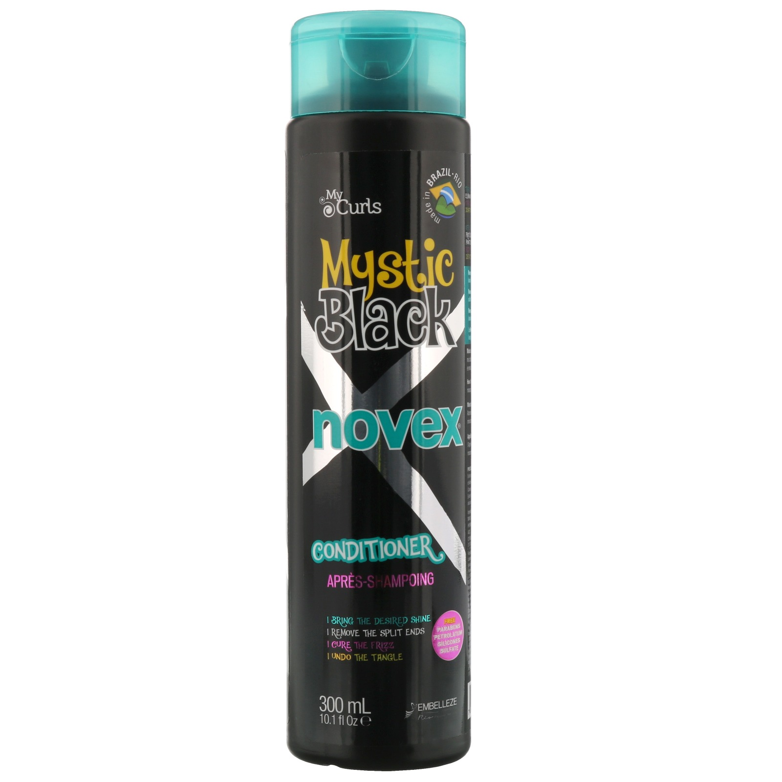 NOVEX MYSTIC BLACK HAIR Хидратиращ балсам за чупливи и къдрави коси 300 мл