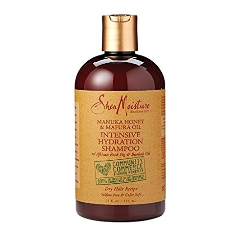 Shea Moisture Manuka Honey & Mafura Oil Интензивно хидратиращ шампоан за къдрава коса 384 ml