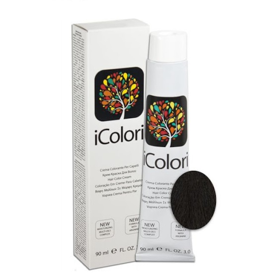 iColori  трайна ниско-амонячна боя за коса 90 мл+ подарък оксидант