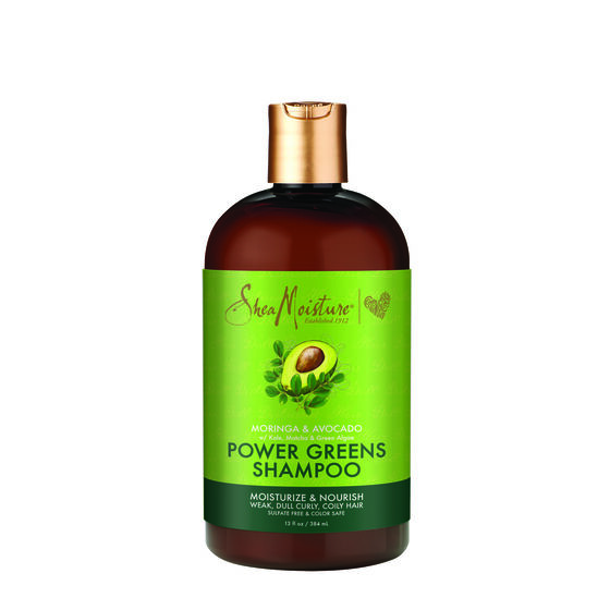 Shea Moisture Power Greens Енергизиращ хидратиращ шампоан за чуплива и къдрава коса