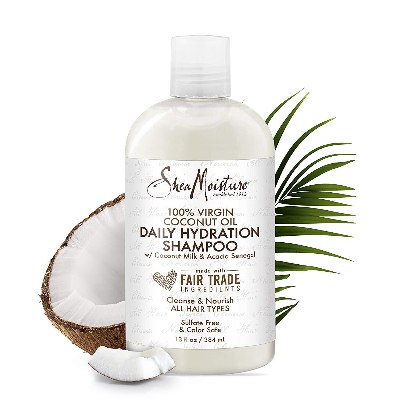 Shea Moisture 100% VIRGIN COCONUT OIL Ежедневен шампоан без сулфати със кокосово масло 384 ml